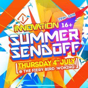 Innovation - Summer Send Off (16+) @ The Fiery Bird Live Music Venue