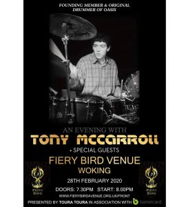 An Evening With Tony McCarroll @ The Fiery Bird Live Music Venue